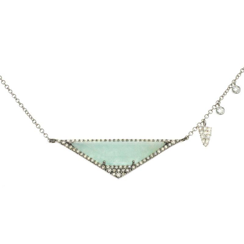 Meira T Aqua and Diamond Necklace