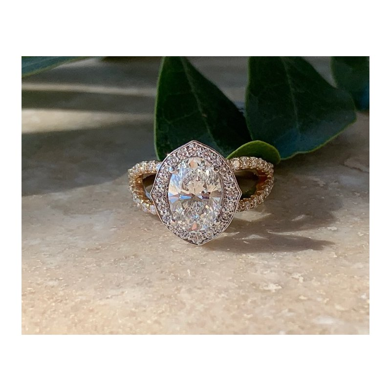 Ascencio Designs Halo Engagement Ring Setting Only - Custom Order