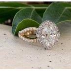 Ascencio Designs Halo Engagement Ring Setting - Custom Order