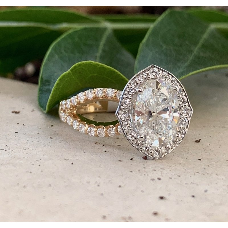Halo Engagement Ring Setting Only - Custom Order