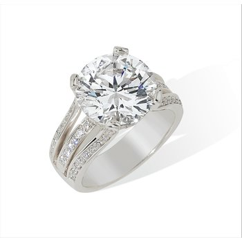 4.43ct Round Diamond Engagement Ring 18KW
