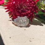 Estate Jewelry Vintage Cushion Diamond Ring 18KW