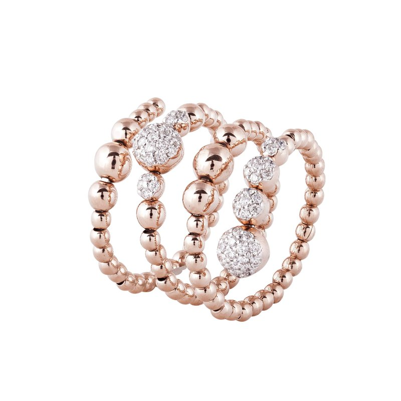 Sophia by Design Rose Gold Wrap Around Band 18KR