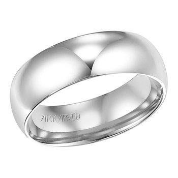14k White Gold Low Dome Band