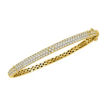 Pave Diamond Bangle 18KY