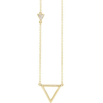 Triangle Diamond Necklace 14KY
