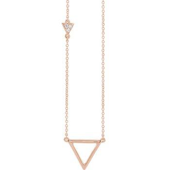 Triangle Diamond Necklace 14KY