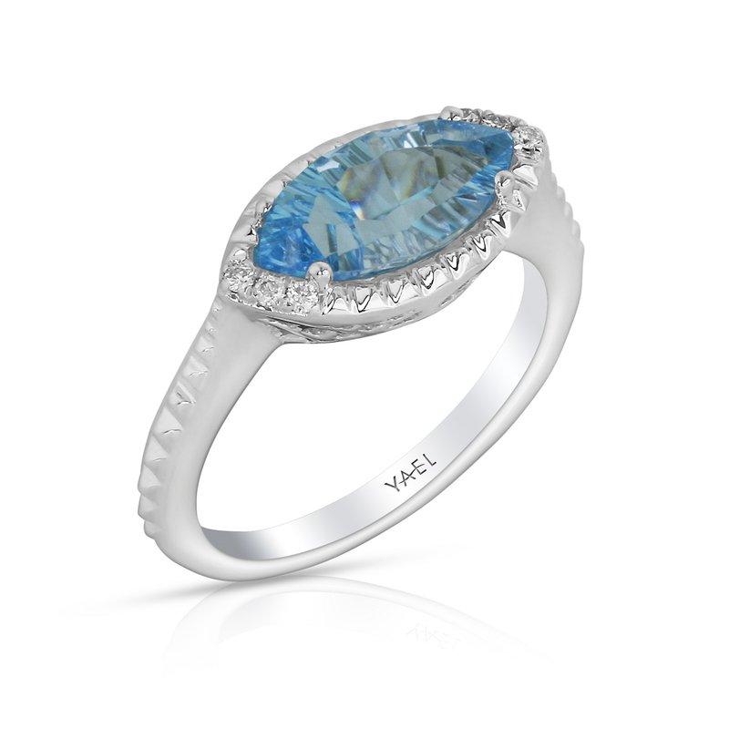 Yael Designs Marquise Blue Topaz Ring 14KW