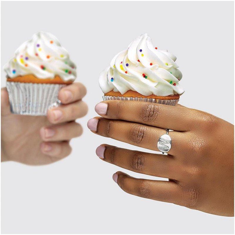 Gallery Designs Initial Diamond Ring 14KW