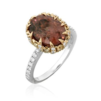 Helianthella Zircon Ring 18KW