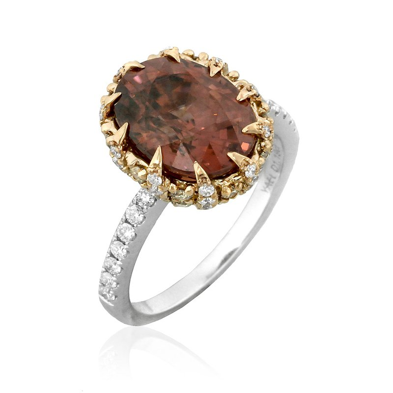 Yael Designs Helianthella Zircon Ring 18KW