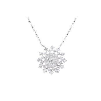Sunburst Diamond Necklace