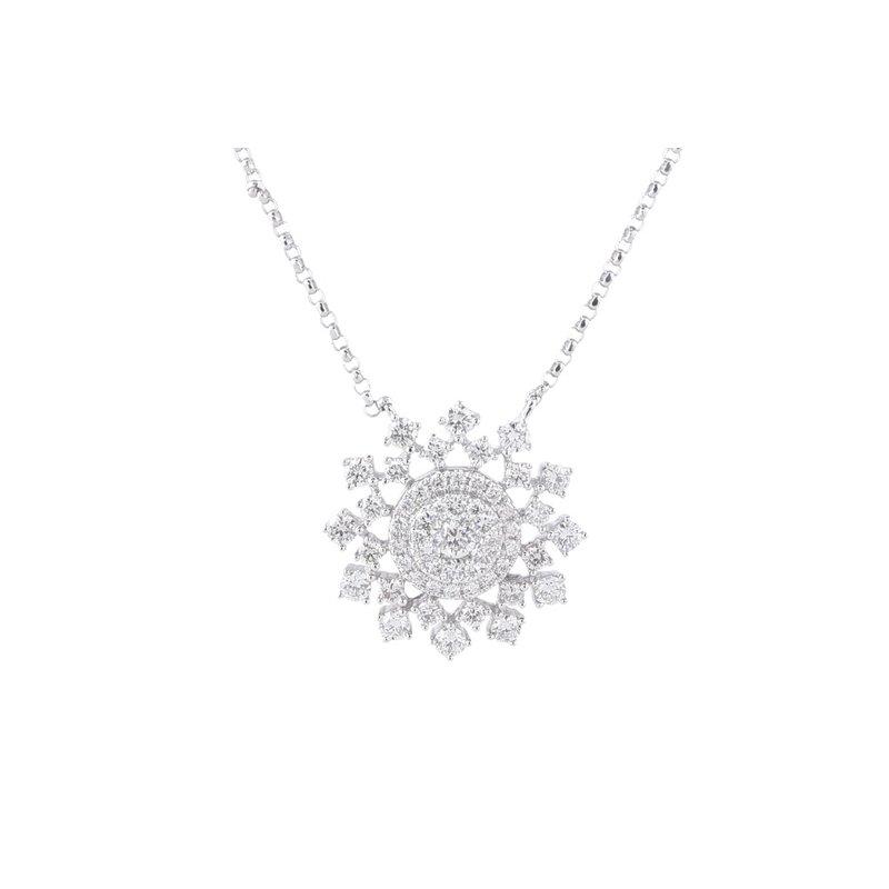 Sophia by Design Sunburst Diamond Necklace