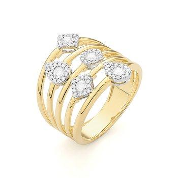 Cocktail Diamond Ring 14KY