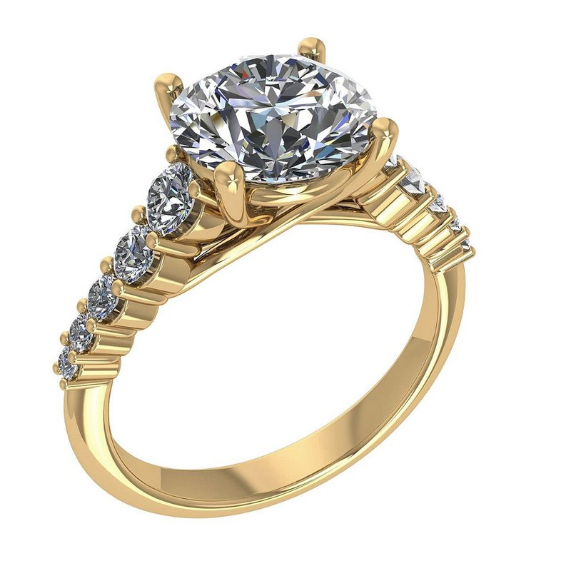 Isadora Cathedral Engagement Ring - Setting Only
