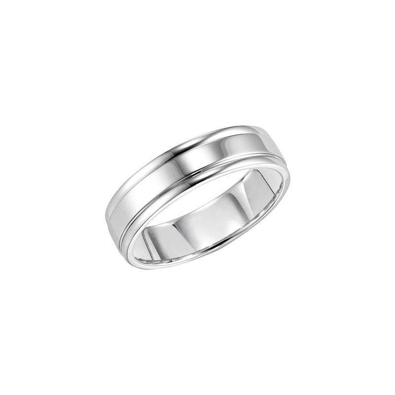 Frederick Goldman 14K Comfort Fit Engraved Wedding Band