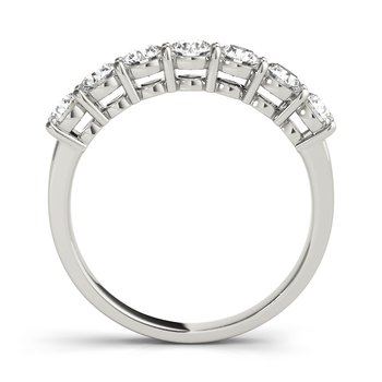 Round Brilliant Prong Band 14K