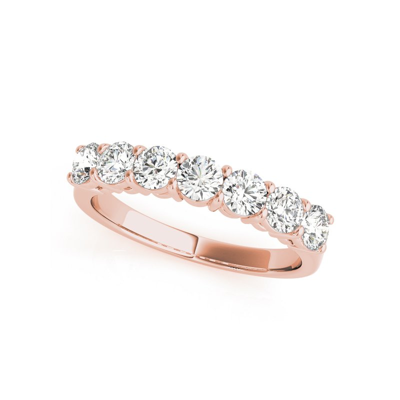 Gallery Designs Round Brilliant Prong Band 14K