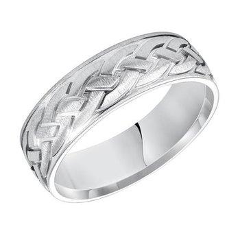 14KW Celtic Engraved Wedding Band