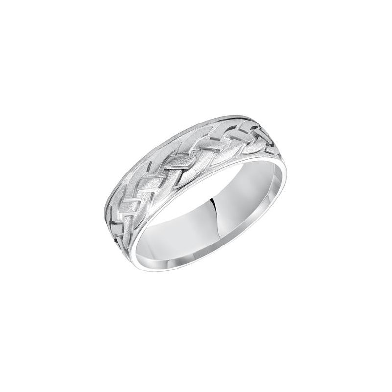 Frederick Goldman 14KW Celtic Engraved Wedding Band