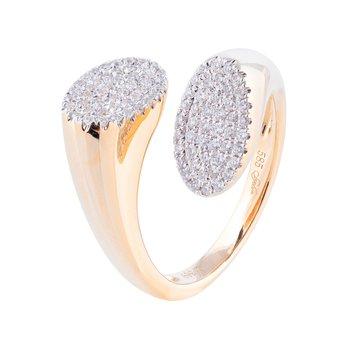Split Pave Diamond Ring 14KY