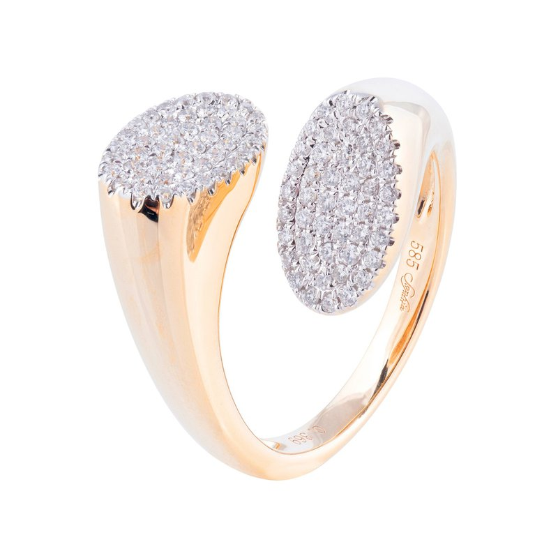 Sophia by Design Split Pave Diamond Ring 14KY