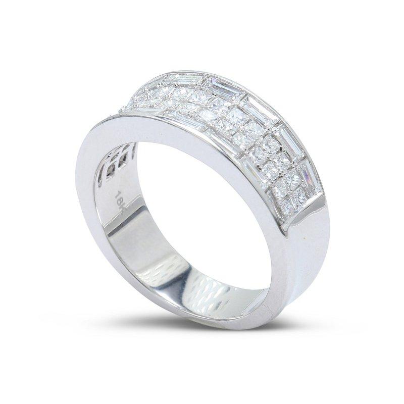 Isadora Wide Diamond Band 18KW