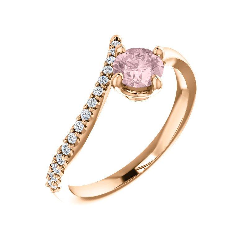 Gallery Designs Morganite & Diamond Ring 14KR