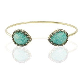 Amazonite Bangle Bracelet