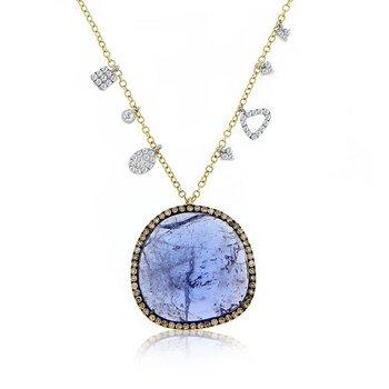 Tanzanite & Champagne Diamond Necklace