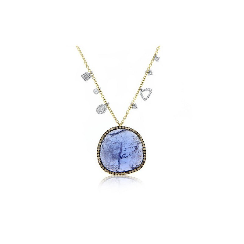 Meira T Tanzanite & Champagne Diamond Necklace