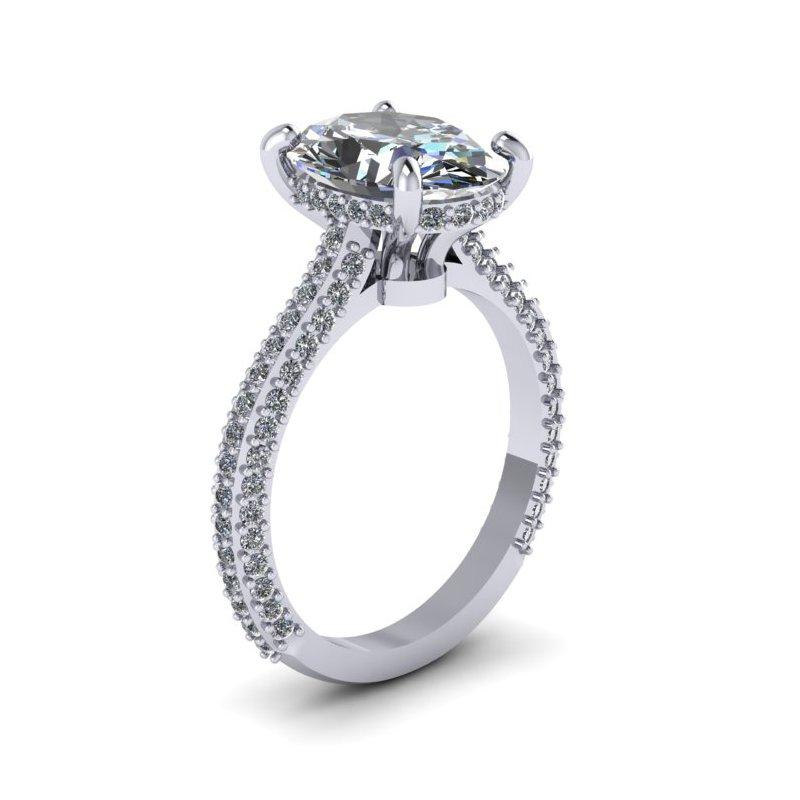 Lunaria Round Diamond Engagement Ring