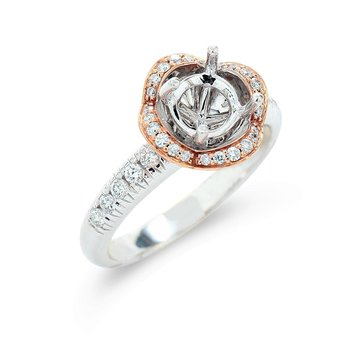 Floral Halo Diamond Setting 18K