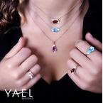 Yael Designs Kite Shape Amethyst Pendant 14KR