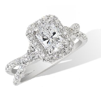 Halo Engagement Ring Setting Only - Special Order