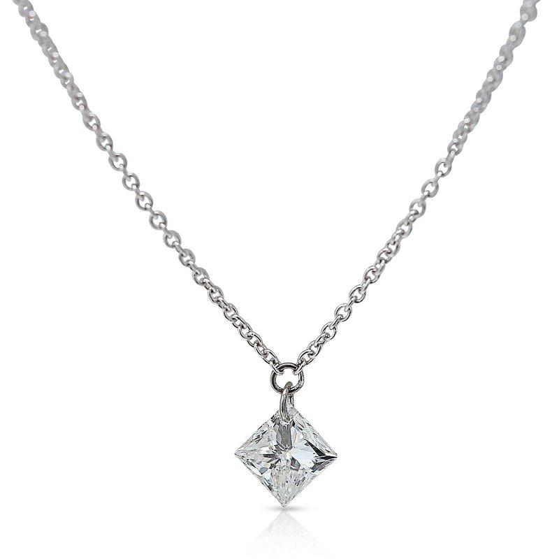 Gravity Pierced Diamond Pendant 14KW