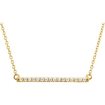 Diamond Bar Necklace 14KY