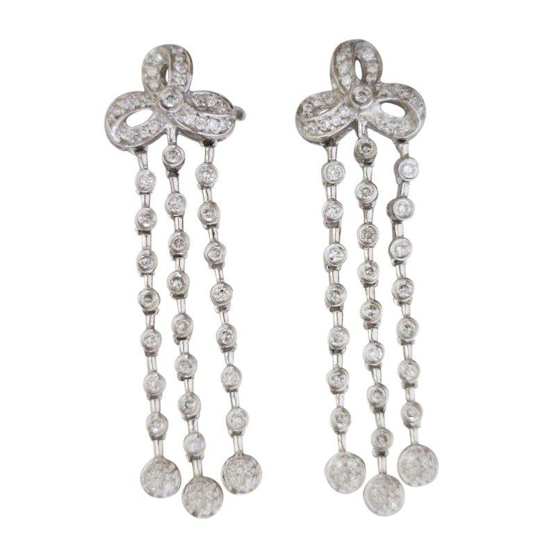 Estate Jewelry Estate Diamond Dangle Earrings 14KW