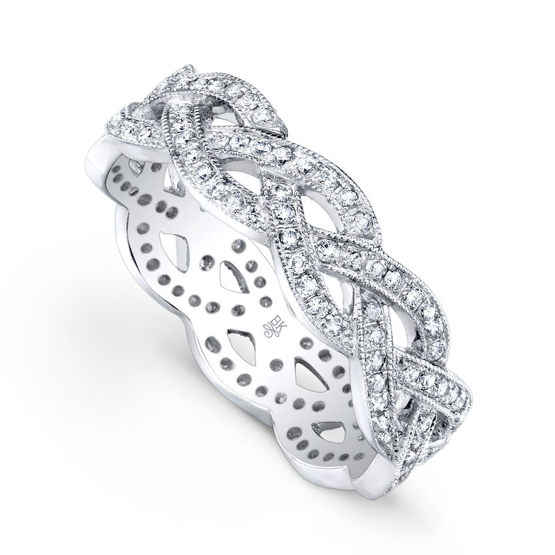 Beverley K Braided Diamond Eternity Band 18KW