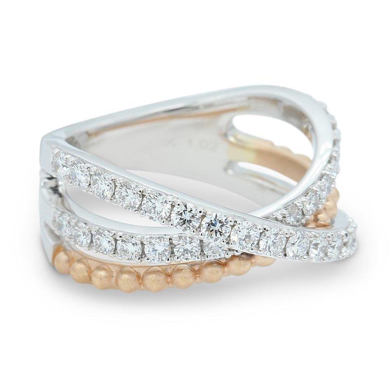 Isadora Criss Cross Diamond Ring 18K