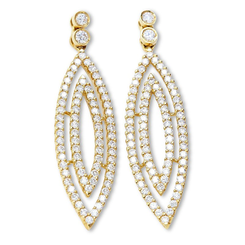 Isadora Diamond Marquise Shape Dangles
