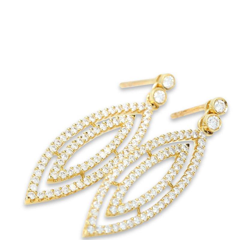 Isadora Diamond Marquise Shape Dangles