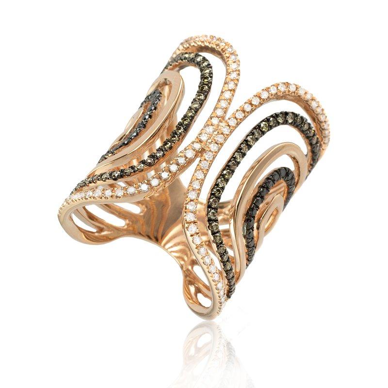 Sophia by Design Open Work Diamond Ring
