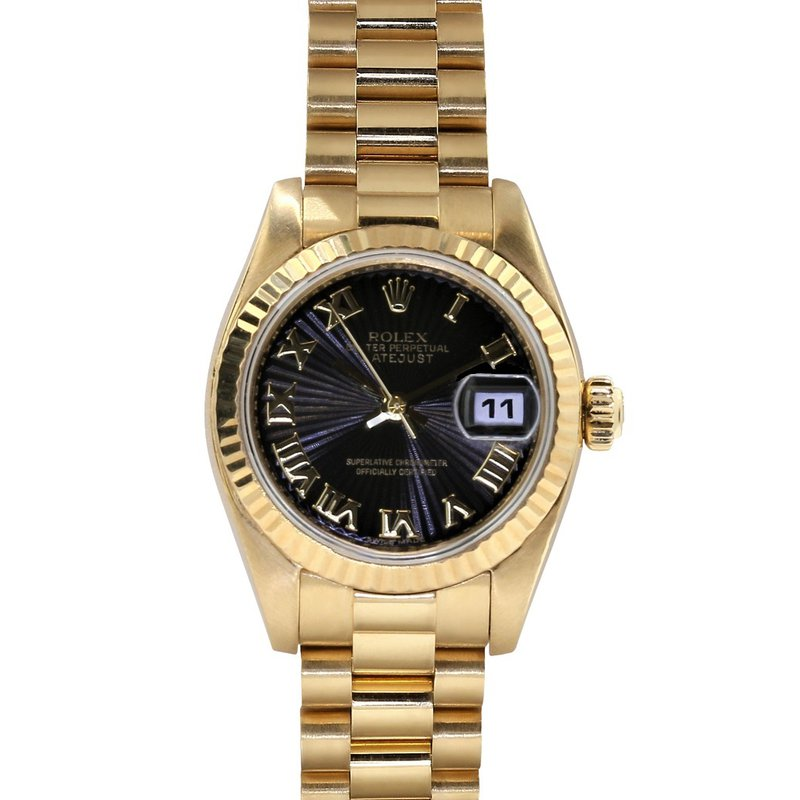 Rolex Pre-Owned Watches Lady President Datejust 18KY 179178