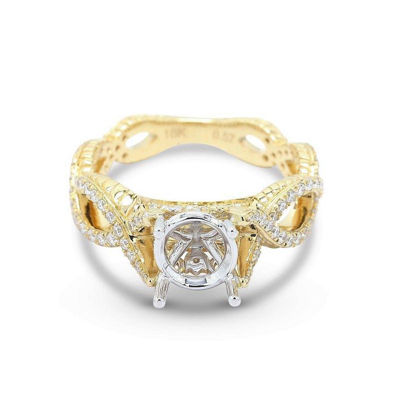 Isadora Criss Cross Diamond Engagement Setting
