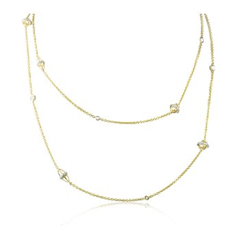 Diamond Station Necklace 52""