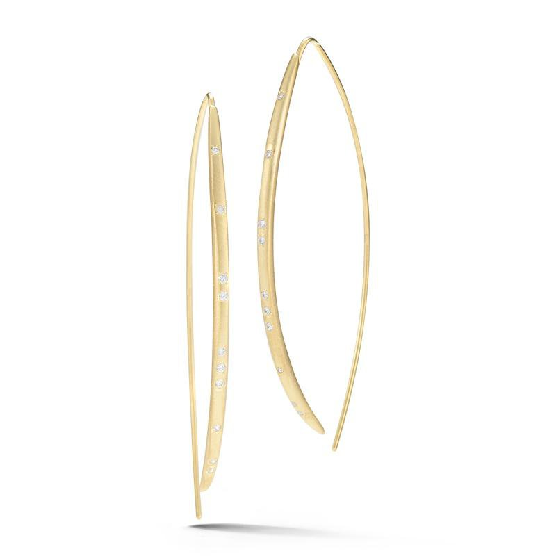 I. Reiss Bow Wire Earrings 14KY