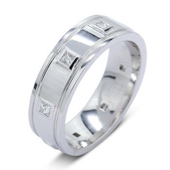 Men's Modern Wedding Band .45cttw