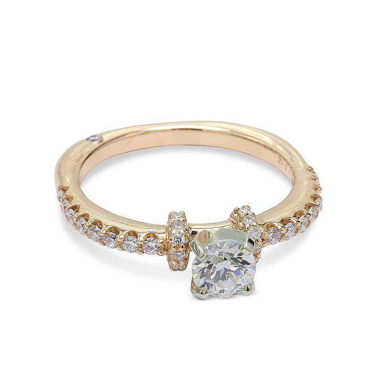 Ascencio Designs Round Diamond Engagement Ring 14KY