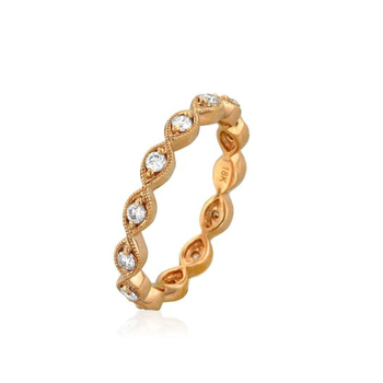 Marquise Shape Eternity Band 18KR